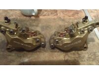 gsxr 600 srad rebuilt and refurbished front brake calipers