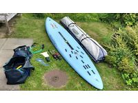 Windsurfing Board, 3 Sails (everything you need) wind surf surfing