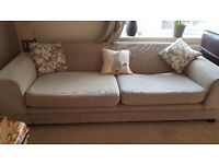 Large neutral fabric sofa