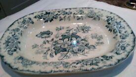"""Ynysmeudwy pottery 16"""" meat plate."""