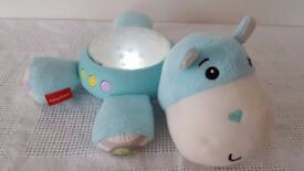 Fisher-Price HIPPO Cuddle Projection Soother Baby / Toddler Nightlight - New