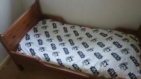 Ikea Leksvik wooden extendable bed.