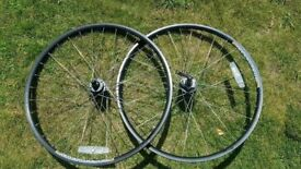 26 inch disk brake wheel set sun rims dt swiss spokes shimano hubs