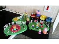 Peppa pig bundle play parks & train