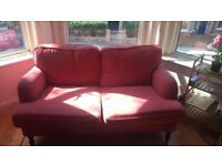 Very comfy and large pink Ikea STOCKSUND sofa - price to be negociated!