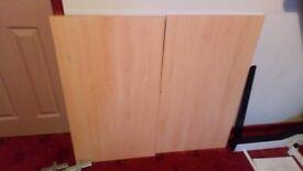 2 Aura Shelf Beech Modular Organiser Shelves & Brackets