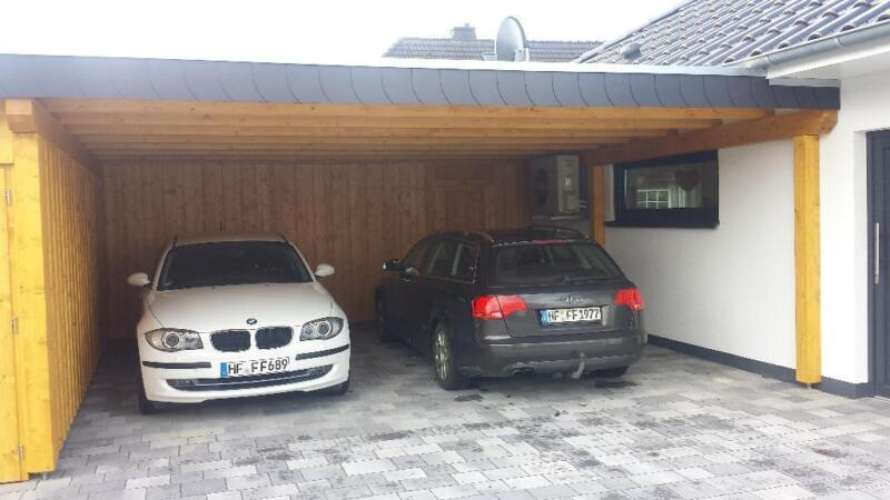 carport doppelcarport leimholz bsh abstellraum flachdach in nordrhein westfalen l hne ebay. Black Bedroom Furniture Sets. Home Design Ideas