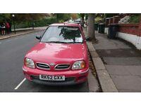 2002 Nissan Micra (red) 9 months MOT