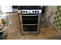 Belling double oven with ceramic hob
