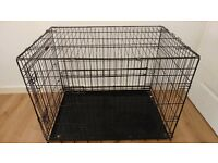 LARGE metal dog crate. Good condition