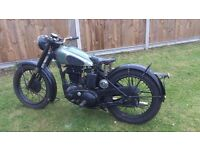 1950 BSA B31 350cc MOTORCYCLE