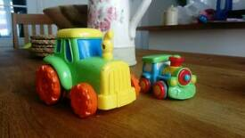 Little tikes push along Tractors and cars