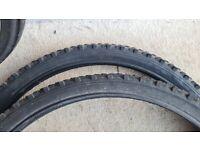Mountain bike tyres 26 x 2.0, pair, almost new