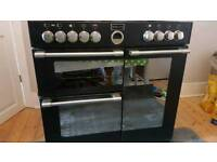 Black, STOVES, Range cooker, 5 gas hobs, 90cm