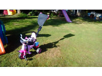 Pink push along trike - Body Avigo