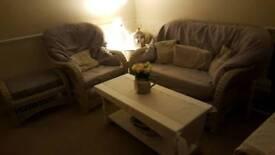 Wicker Sofa and Armchair - Beautiful!