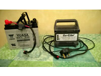 Golf Glider Battery Charger and Yuasa Battery
