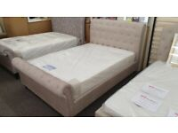Julian Bowen Ravello Deep Button Scroll Double Bed Frame Can Deliver