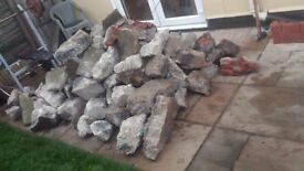 Stone lumps - concrete slab bits - concrete lumps FREE to Collect