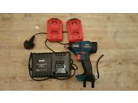 New Brushless Makita 18v impact wrench two batteries and chardger