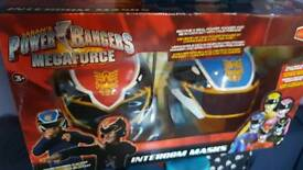 Power rangers mega force intercom masks