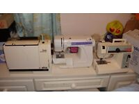 Vintage Elna Air and janome and Singer sewing machine SOLD AS SPARE AND REPAIRS