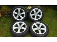 17inch audi genuine alloys rims wheels fit a4 a5 a6 vw passat sharan caddy van etc