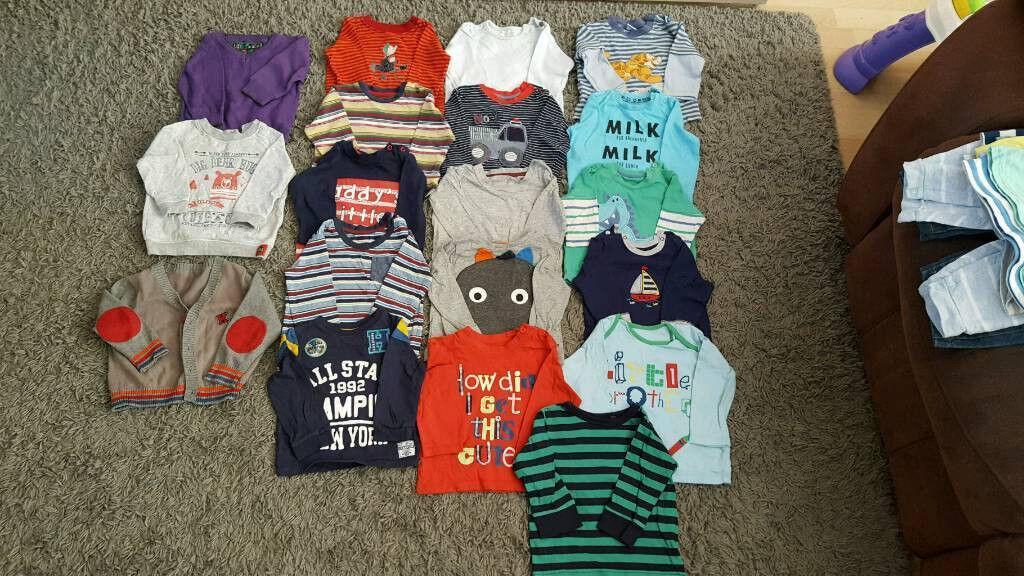 9e3b052ca Large Bundle of Baby Boy Clothes 6-9 Months. 92 Pieces