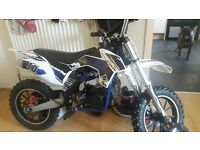 mini motor racing moterbike 50cc mint condition ..