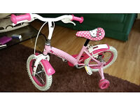 Little Miss Kitty bike with stabilisers excellent condition