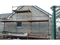 Used scaffolding for housebuild