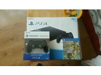 New ps4 slim 500gb with fifa 17 and extra controller (v2) all sealed