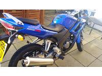 Honda CBR 125 R-5 05 Plate in Excellent Condition,, Blue in Colour