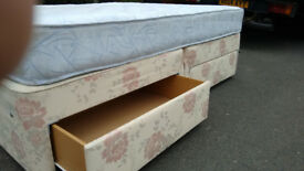 quality Double Bed . quick FREE DELIVERY complete with mattress. No stains, hardly used. 4 draws