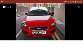 Great car. Ford focus 2006 bright red 1.6 petrol