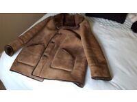 Mens Sheepskin Coat Size 42
