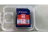 4Gb Verbatim Class 10 SDHC Memory Card