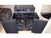 Bose Speakers, Technics amp & Kenwood Cassette player