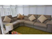 Leather corner unit and footstool