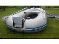 WavEco Inflatable Boat Dinghy Tender Boat Slatted Roundtail