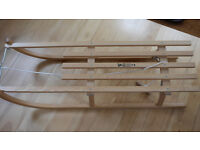 wooden sledge, once used!