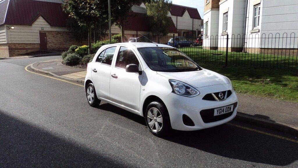 Nissan Micra 1.2 Visia 5dr Manual White 2014 (14) £ 3750 ( Not Corsa/ polo / golf / yaris )