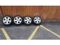Mazda mx5 alloys wheels 195 60 15 4x100
