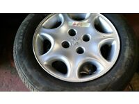 Peugeot 406 set of alloys with 205 60 15 tyres