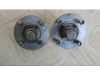 2 Erde trailer wheel hubs to fit Erde 1 pair 102/122/132 or Daxara 107/127/137 trailer