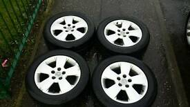 "Vauxhall 16"" 5 stud alloy wheels and tyres zafira vectra astra etc"