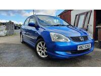 Honda Civic SE 1.6l petrol 2004, full year MOT