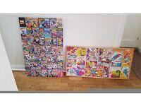 Marvel Comic Canvas Prints x 2