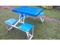 Outsunny aluminium camping table with 4 seat