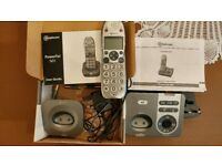 Amplicomms Powertel cordless big button phone mega-bundle - hearing aid compatible
